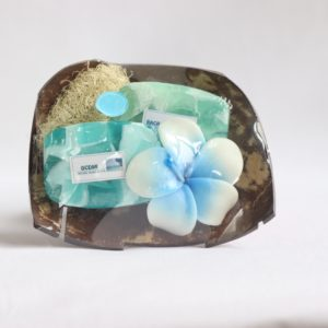 Handicraft Ocean soap set in coconut shell from Thailand